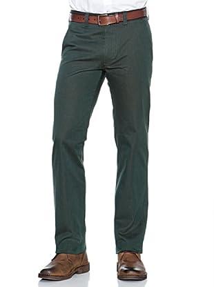 Dockers Pantalón Recto De Algodón (Verde)