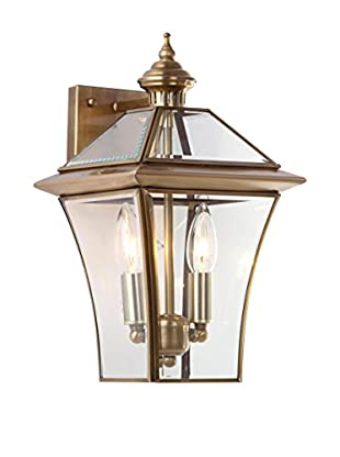 Safavieh Virginia 2-Light Sconce, Brass