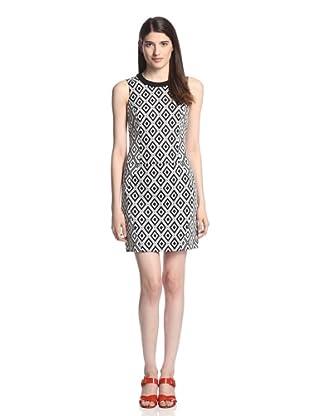 Ali Ro Women's Charlotte Jacquard Dress (Black/White)