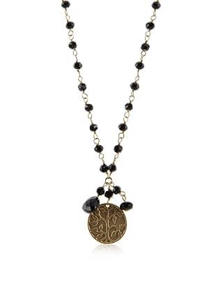 Flying Lizard Black Multi-Charm Necklace