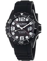 Haurex Italy Women's 1K374DNN Ink Black Rubber Band Aluminum Watch