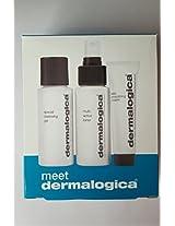 Dermalogica Meet Dermalogica Special Cleansing Gel 1.7 Oz Muti Active Toner 1.7 Oz Skin Smoothing Cream .75 Oz