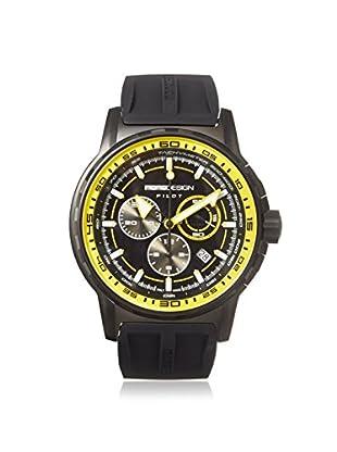 MOMODESIGN Men's MD2164BK51-RB Pilot Black/Yellow Silicone Watch