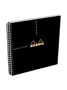 Rhodia Set of 5 Graph Reverse Standard Notebooks (Black)