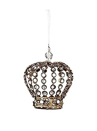 Sage & Co. Silver Jeweled Crown Ornament