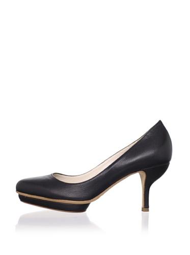JIL SANDER Women's Mid-Heel Pump (Black)