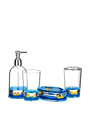 Premier Housewares Bad Accessoires 4 tlg. Set 1601499 blau