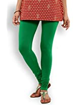 Aaboli Green Cotton Lycra Regular Fit Cotton Knit Churidar
