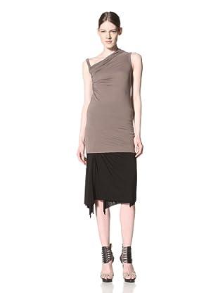 Rick Owens Lilies Women's Asymmetric Twist Shoulder Top (Dna Dust)