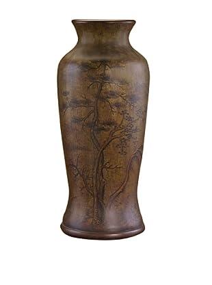John-Richard Collection Hand-Painted Oriental Vase, Brown