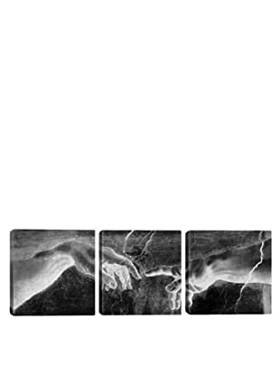 iCanvasArt Michelangelo: The Creation of Adam II Panoramic Giclée Triptych