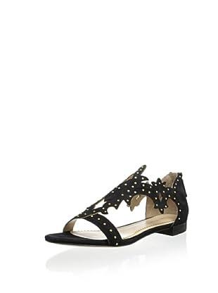 Pour La Victoire Women's Katia Studded Swirl Sandal (Black)