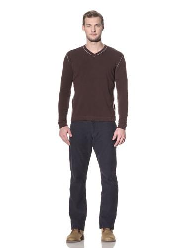 Benson Men's V-Neck Sweater (Espresso)