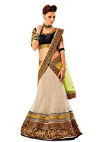 Heavy Bridal Off White Color Lehenga Saree 5011 - IB-287