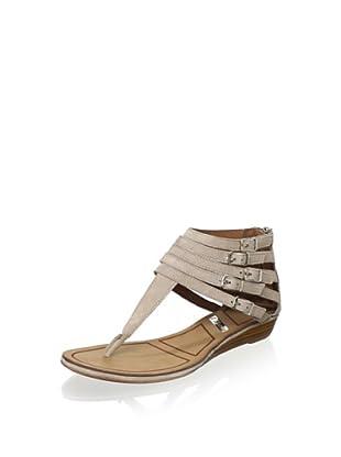 Matiko Women's Hannah Strappy Buckle Sandal (Pomice)