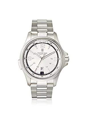 Victorinox Swiss Army Men's 241571 Night Vision Silver/White Stainless Steel Watch
