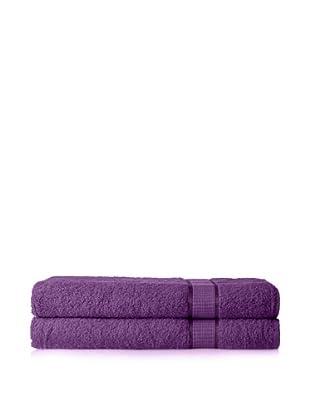 Espalma Set of 2 Ambassador Bath Sheets (Purple)