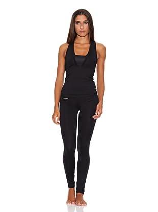 Adriana Arango Conjunto de Camiseta y Legging (Negro)