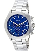 Fossil Retro Traveler Chronograph Blue Dial Men's Watch - CH2894