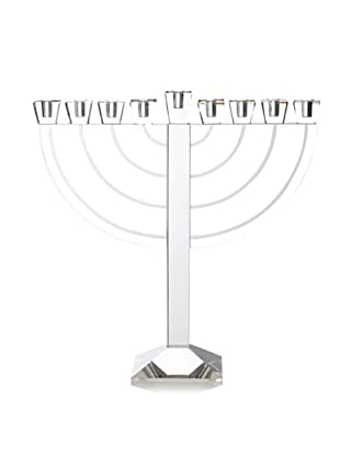 Godinger Etched Jerusalem Menorah, Non Leaded Crystal