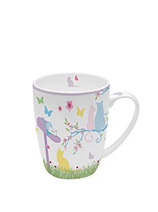Easy Life Design Mug in Porcellana Bone China Cats 350 ml