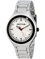 Activa By Invicta Unisex AA200-019 Silver Dial Silver Plastic Watch