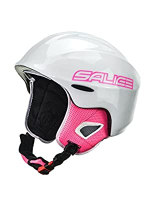 Salice Casco Kid Blanco / Fucsia
