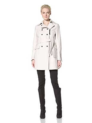 Calvin Klein Women's Double-Breasted Coat with Zipper (Flax)