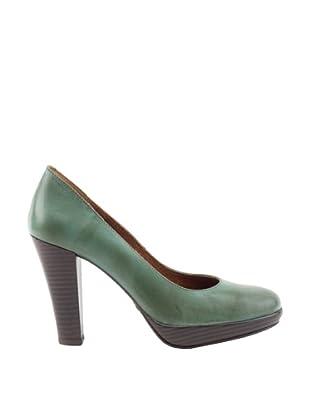 Liberitae Zapatos tacón Plataforma (Verde Bosque)