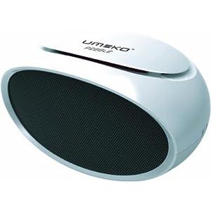 UMEKO Pebble 2 Portable Multimedia Speaker,USB / TF, FM radio player (White)