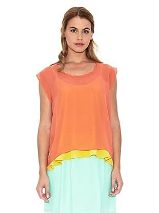 American Vintage Blusa Asimétrica (Papaya)