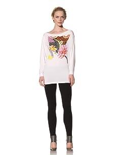 Philosophy di Alberta Ferretti Women's Tunic with Graphic (White)