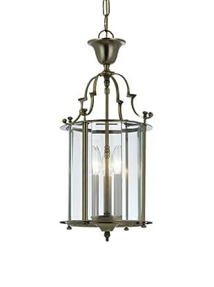 Gold Coast Lighting Solid Antique Brass Clear Beveled Lantern
