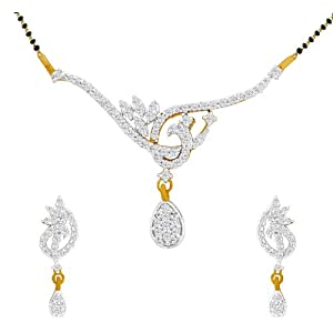 Spargz Mangalsutra Earring Set For Women AIMS 005 [Jewellery]