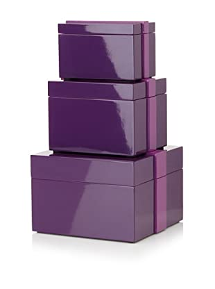 Mili Designs Set of 3 Boxes (Purple/Purple)