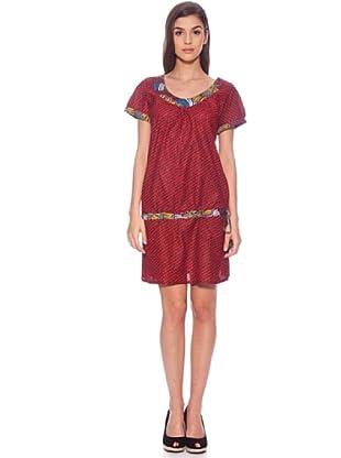 Sigris Vestido Geométrico (Rojo)