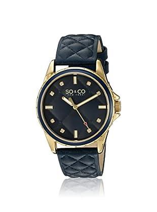 SO&CO Women's 5201.3 SoHo Blue Leather Watch