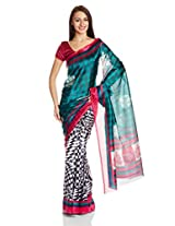 Boondh Poly Cotton Saree with Blouse Piece