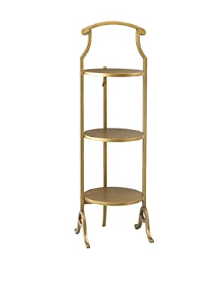 French Heritage Large Round Fold Table, Gold