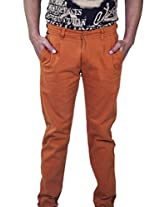 Rollister Men's Casual Pants (0094qq_Orange_34)