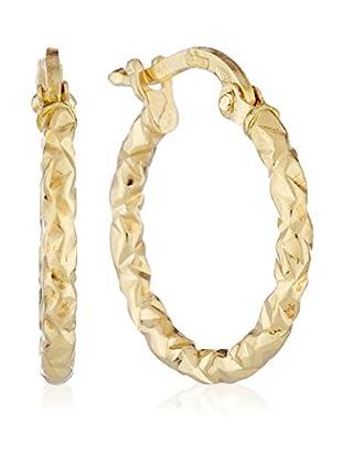 Gold & Diamonds Pendientes Hoop