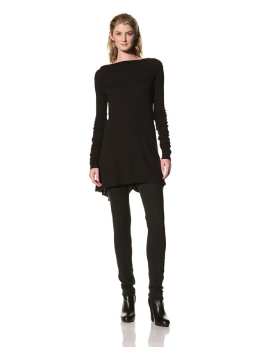 RICK OWENS Women's Long Sleeve Drapeback Tunic (Black)