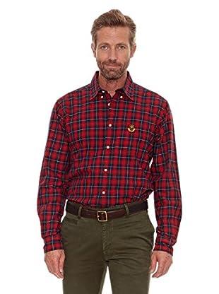 Cortefiel Camisa Twill (Rojo)