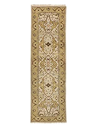eCarpet Gallery One-of-a-Kind Hand-Knotted Royal Ushak Rug, Cream, 2' 6