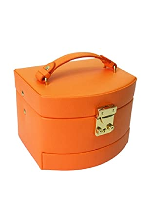 Morelle & Co. Laura Leather Expandable Jewelry Box, Nectarine