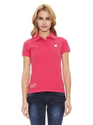 Polo Club Polo Manga Corta Custom Fit Indian River (Fucsia)