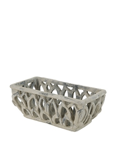 A&B Home Garland Collection Rectangular Leaves Planter