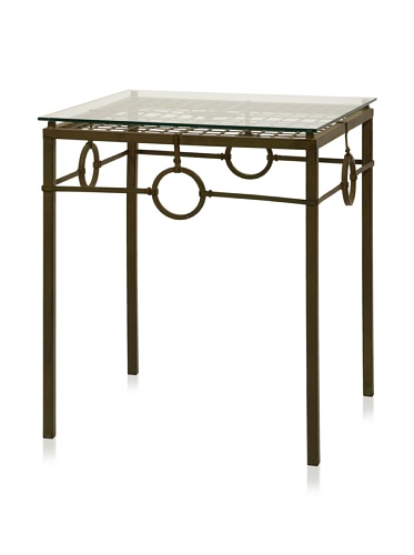 Carolyn Kinder Tabora Glass Top Accent Table