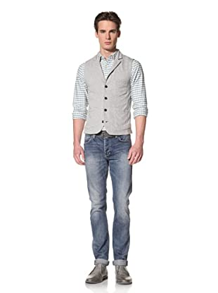 Onassis Men's Locke Terry Knit Vest (Heather Grey)
