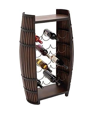 Deco 79 Brown Wooden Metal Wine Rack